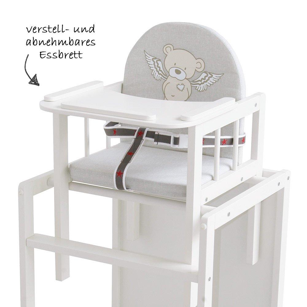 Kombi-Hochstuhl mit Tisch und Stuhl Kombination