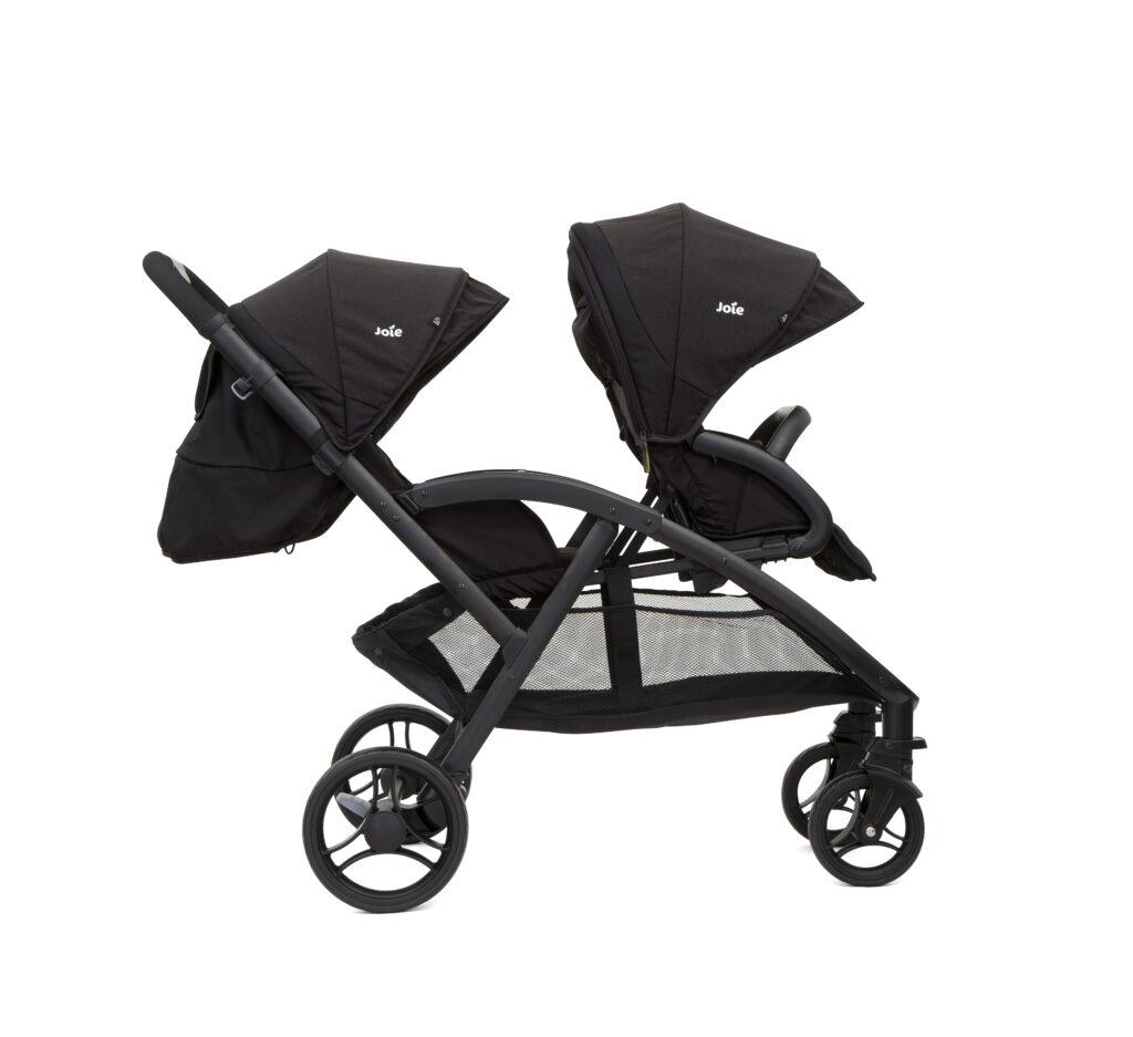 Tandem-Kinderwagen mit verstellbarer Rückenlehne