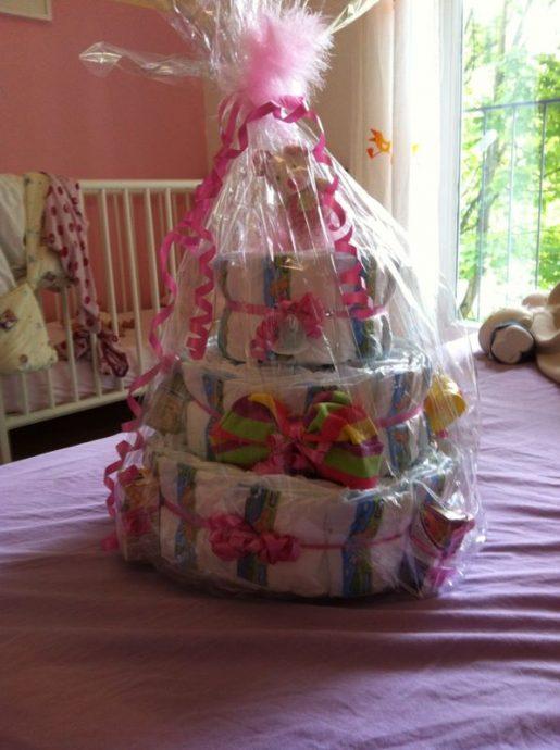 Geschenkideen zur Geburt Windeltorte