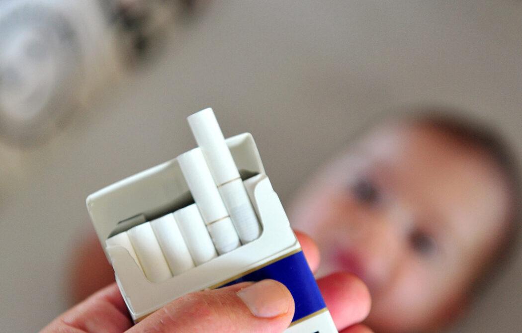 Stillen und Rauchen