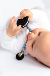 Beißkette Silikon Bellajane Baby Zahnen erleichtern