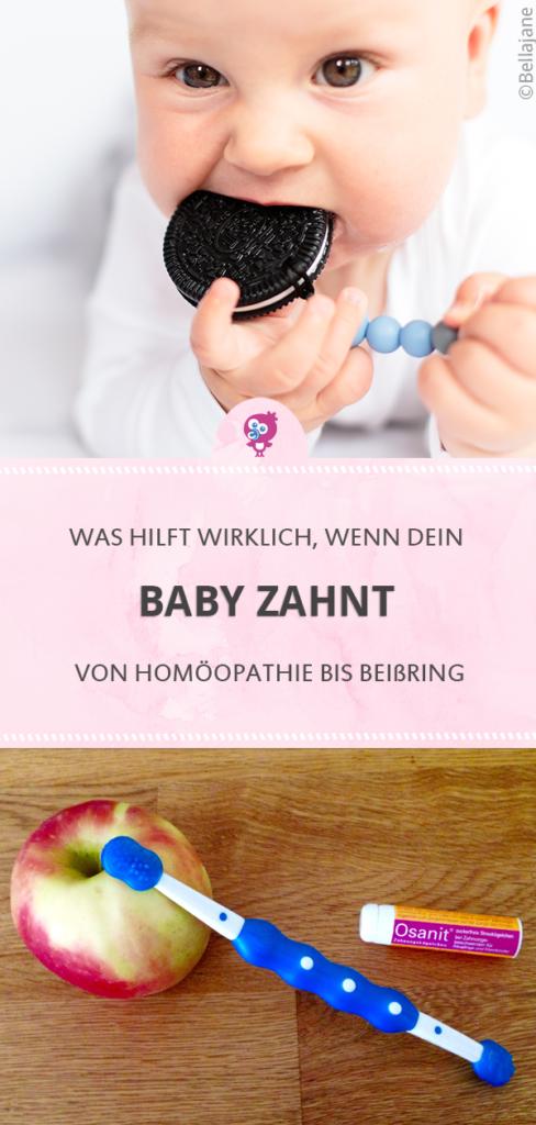 Baby zahnt: Was hilft wirklich? Hilfreiche Tipps von der Hebamme: von Homöopathie bis Beißring #baby #zahnen