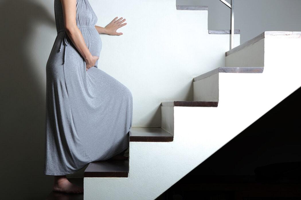 Treppensteigen Schwangerschaft