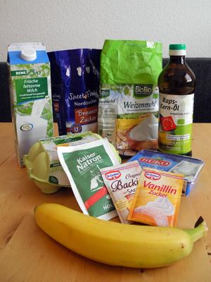 Bananenmuffins Zutaten