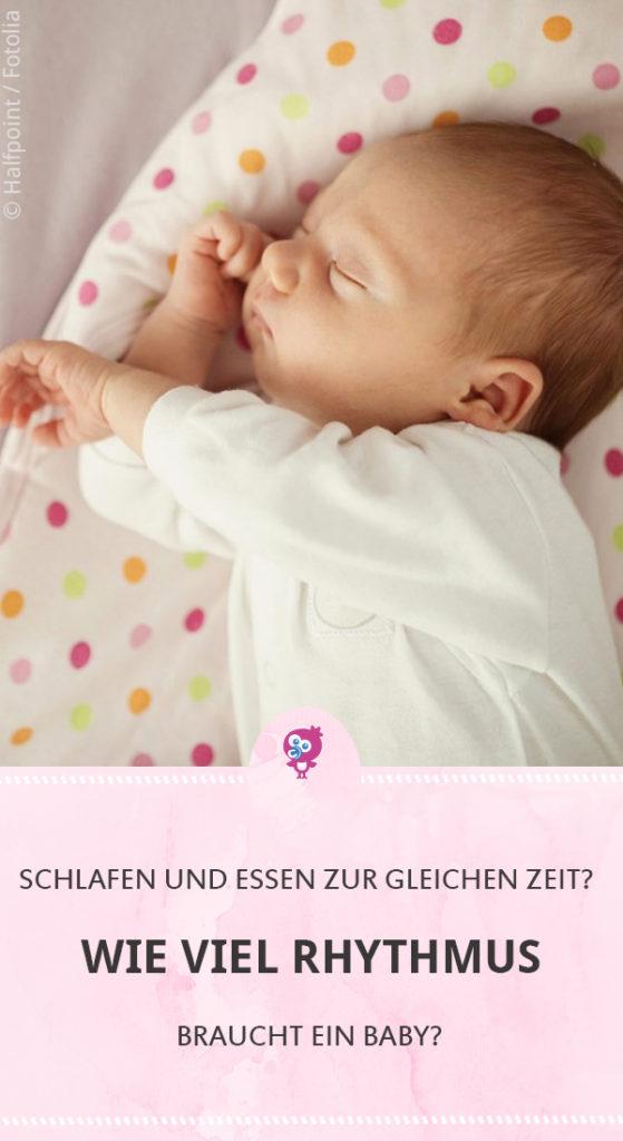 Wie viel Rhythmus braucht ein Baby? Ob Dein Baby immer zur selben Zeit Essen und Schlafen musst, erklärt unsere Hebamme hier #baby #schlafen #stillen