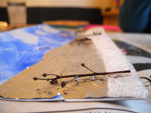 Winterbild basteln - Bäume