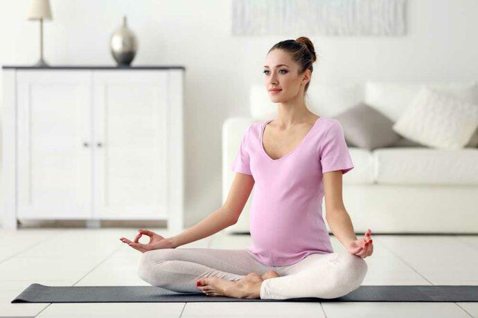 Yoga-Übungen in der Schwangerschaft