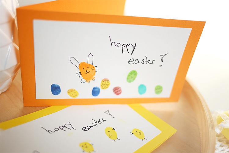 Hoppy_Easter_Selfmade_Osterkarte_DIY_Fingerprint_Bunny_Easter_Card_Frohe_Ostern_Happy_Easter_