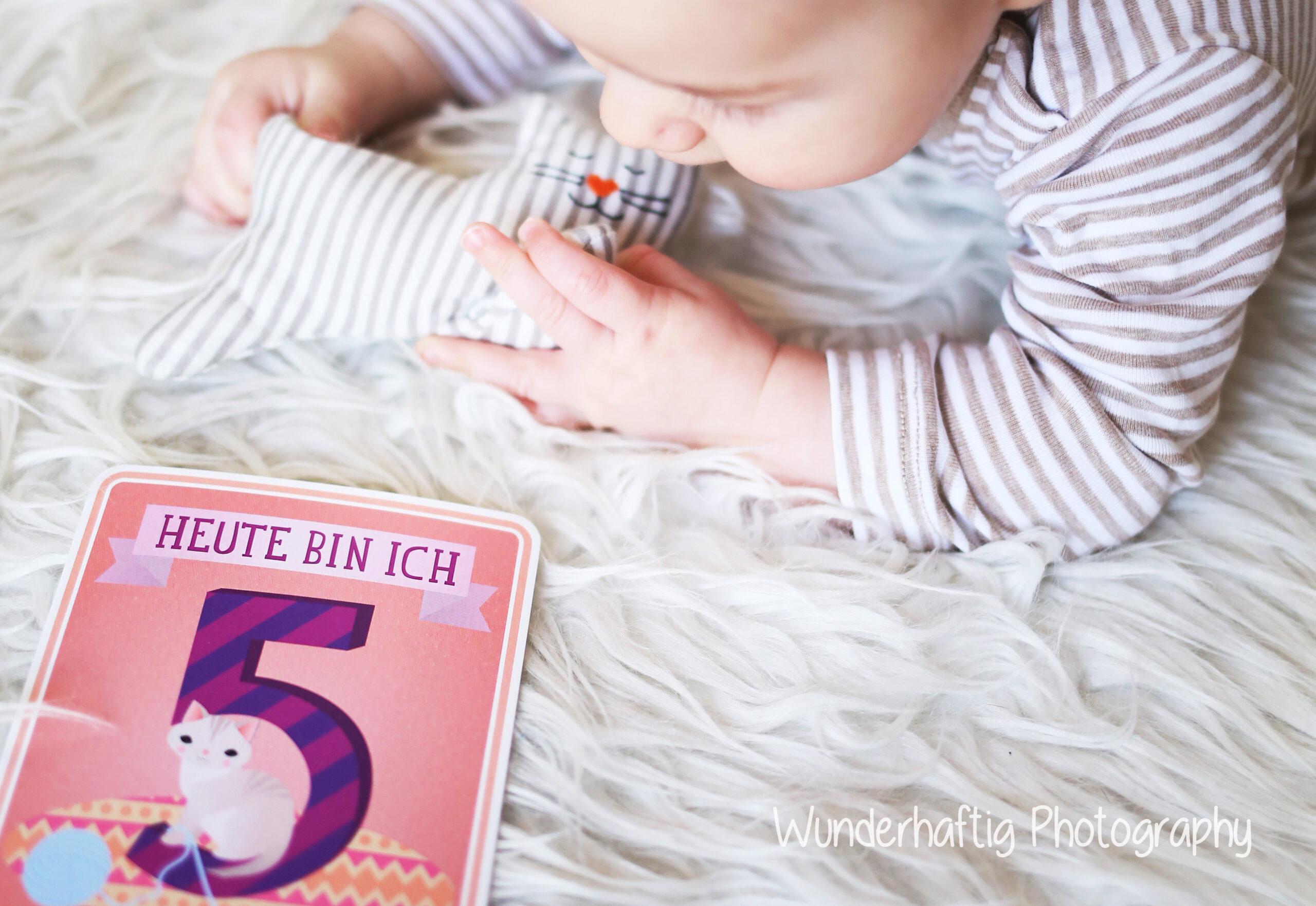 Baby Fünf Wochen