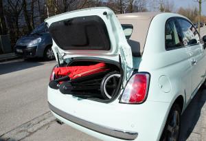 Kofferraum-Test Balios M Fiat 500