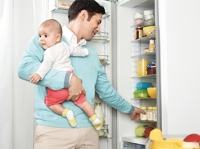 Milchaufbewahrung im Kühlschrank
