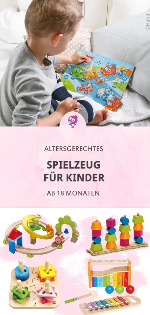 Gibt es pädagogisch sinnvolles Spielzeug für Kinder ab 18 Monaten? Womit sich Kinder gerne beschäftigen, hängt von der kognitiven Entwicklung ab. #holzspielzeug #spielzeug #kinder #18monate