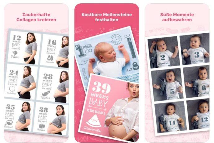 schwangerschafts app fotos bilder meilensteine