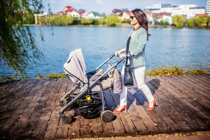 Wickeltasche für den Kinderwagen