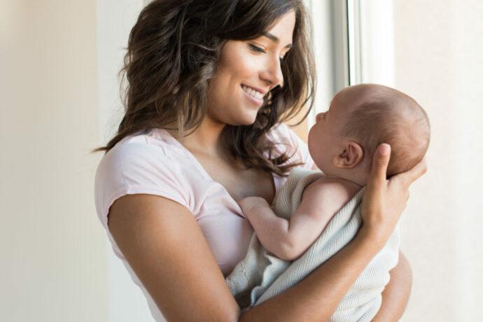 Haltepositionen für das Baby