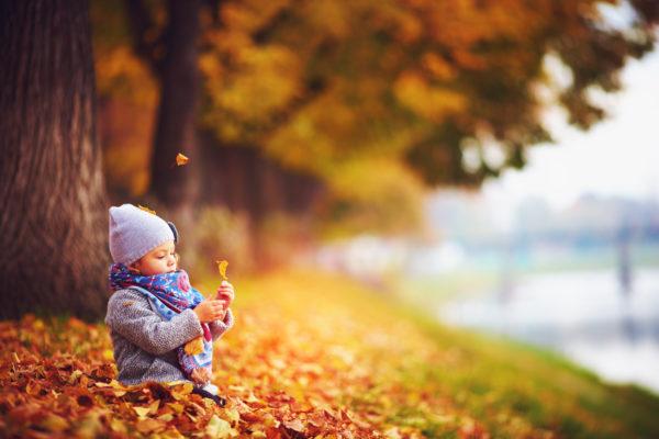 Herbst mit Baby