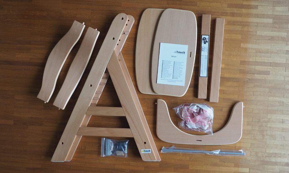 Hauck Alpha Plus Lieferumfang – Inhalt Verpackung