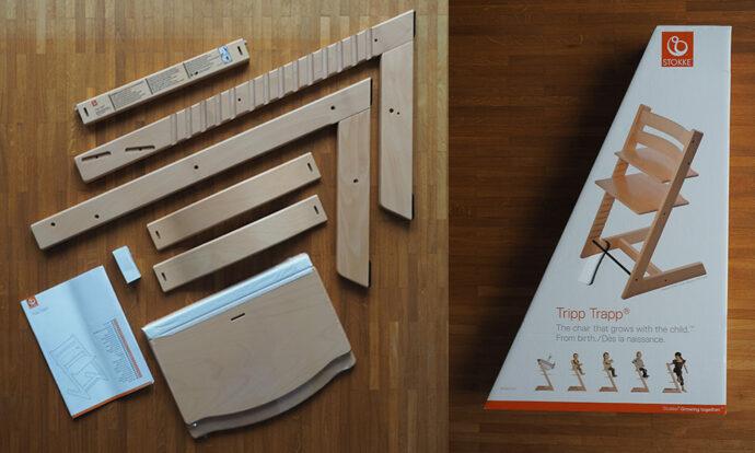 Stokke Tripp Trapp Lieferumfang - Inhalt Verpackung