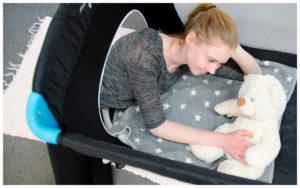 Reisebett Test Hauck Sleep'n Go Plus. Prüfung auf Komfort für Eltern und Baby