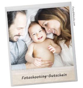 Geschenke zur Geburt Fotoshooting-Gutschein