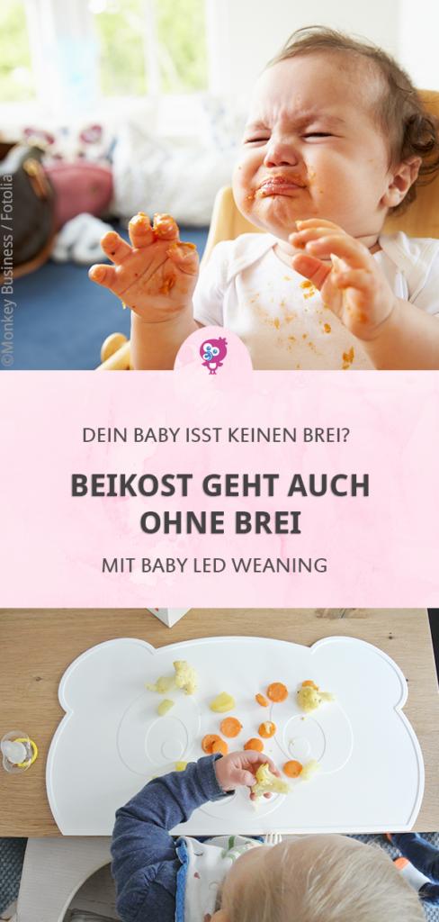 Beikost ohne Brei - Welche Vorteile hat es, Dein Baby breifrei zu ernähren? Und birgt Baby led weaning Risiken? Alles über Baby led weaning erfährst Du in diesem Artikel. #babyledweaning #blw #beikost