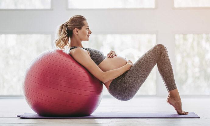 Gymnastikball Schwangerschaft, Geburt, Wehen, Rückbildung, Schwangerschaftsgymnastik, Baby beruhigen, Pezziball