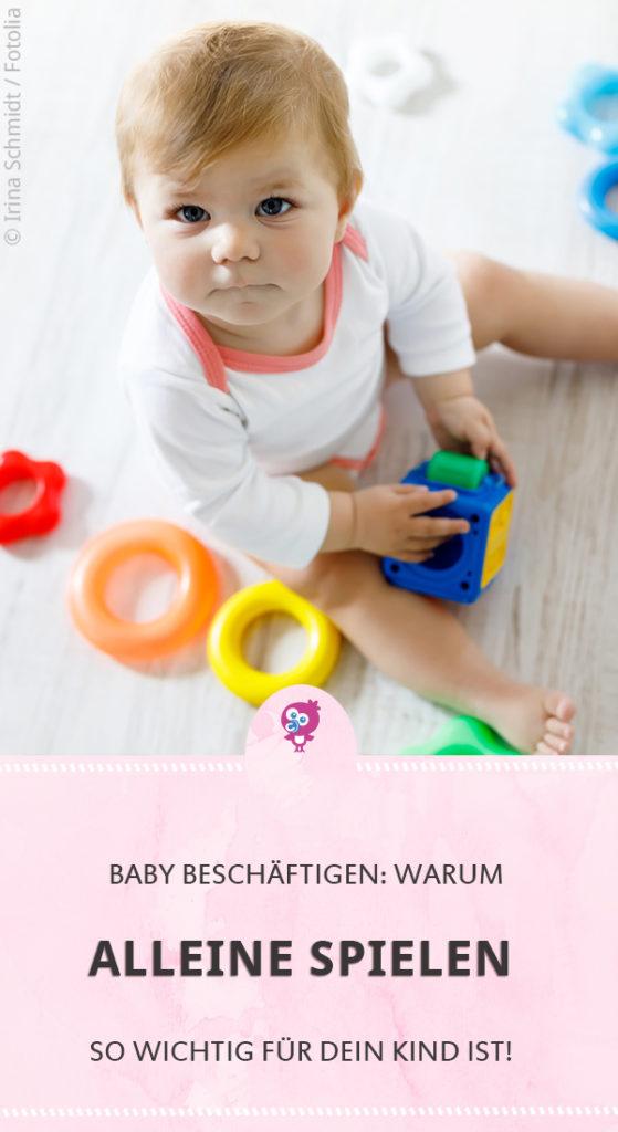 Baby beschäftigen: Warum alleine spielen so wichtig ist #baby #entwicklung #spielen