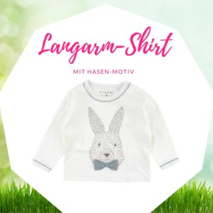 Ostergeschenk Baby Shirt Fixoni Hase