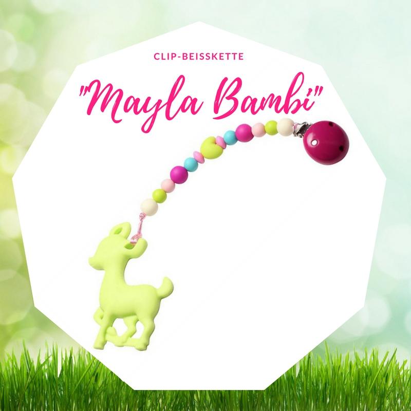 Ostergeschenk Baby Beißkette Schnullerkette Bella Jane