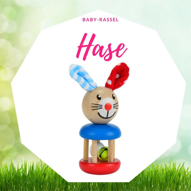 Ostergeschenk Baby Rassel Hase