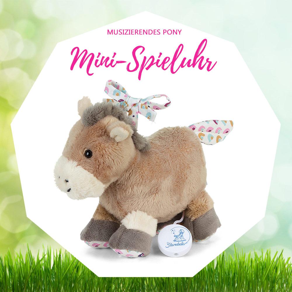 ostergeschenk baby kleinkind mini spieluhr pony sterntaler