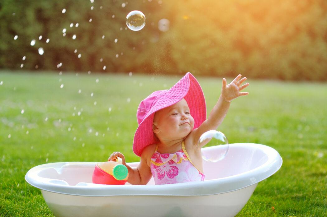 baby sommer freizeit tipps seifenblasen