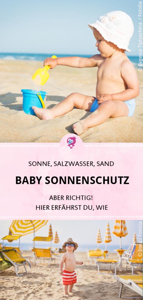 Wie schützt Du die empfindliche Haut Deines Babys am besten vor Sonne, Salzwasser und Sand? Mama-Bloggerin Hanna kennt sich mit ❂ Baby Sonnenschutz ❂ aus, denn sie lebt auf Bali und ihr kleiner Sohn hat Neurodermitis. Lies hier ihre besten Tipps zu Sonnencreme und Baby Sonnenschutz