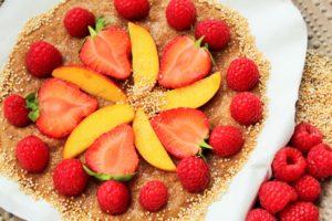 BLW Rezept Früchte Pizza Beeren Amaranth Baby Frühstück
