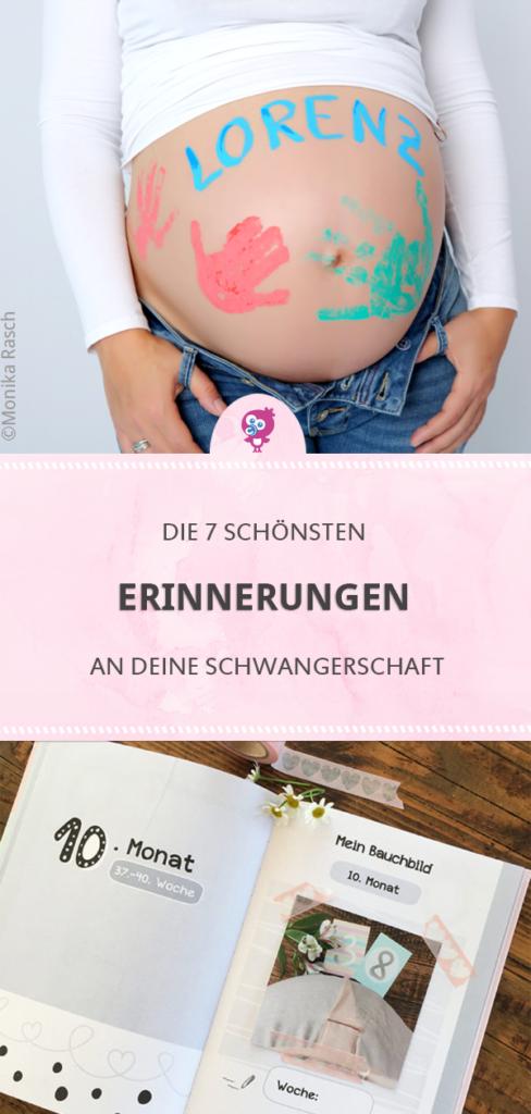 Egal, ob Babybauch-Gipsabdruck, professionelles Schwangerschafts-Fotoshooting oder die ersten Herztöne als Audio-Aufzeichnung: Hebamme Monika hat 7 Tipps für die schönsten Erinnerungen an Deine Schwangerschaft. #schwanger #babybauch