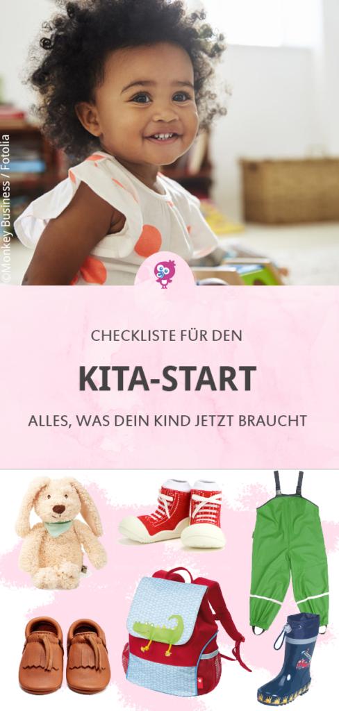 Kita-Start Checkliste erfahre hier, was Dein Kind alles für den Kindergarten oder Kinderkrippe braucht