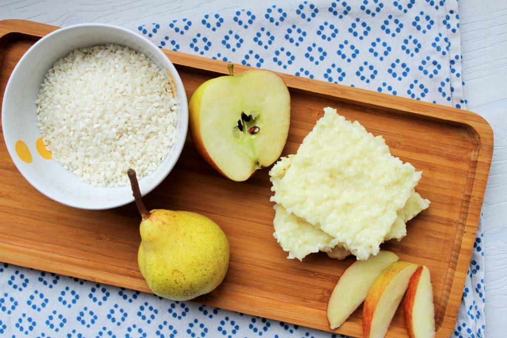 BLW Rezept Baby Frühstück Milchreisschnitten