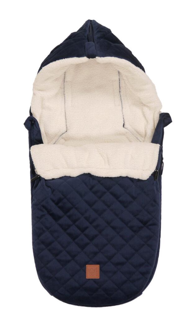 Kaiser Fleece Fußsack Velvet Hoody für Babyschale und Babywanne