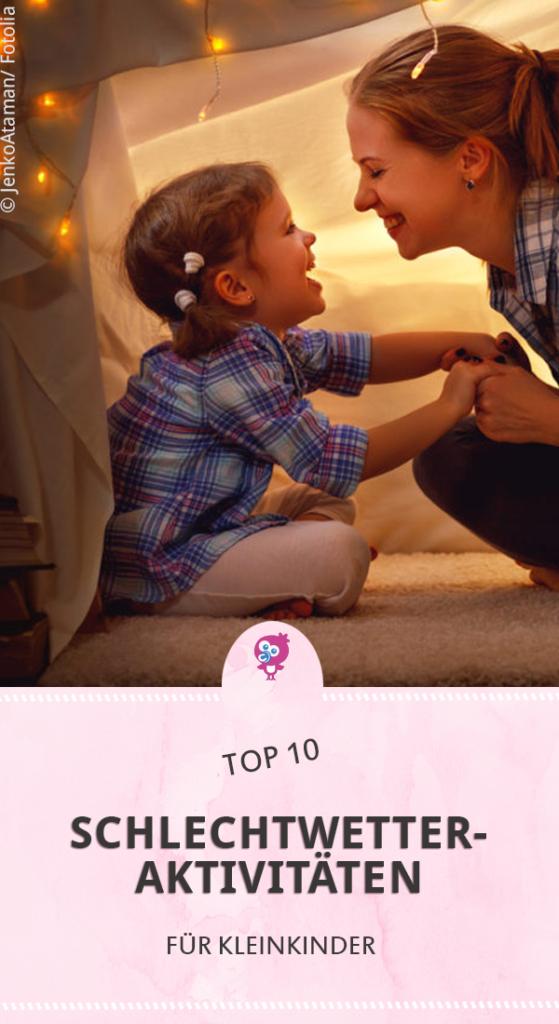top 10 Schlechtwetter Aktivitäten für Kleinkinder für Drinnen und Draußen #kleinkind #beschäftigen #spielideen #winter