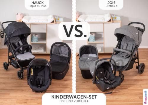kinderwagen 3 in 1 set test vergleich hauck oder joie, rapid 4 s plus oder litetrax 4