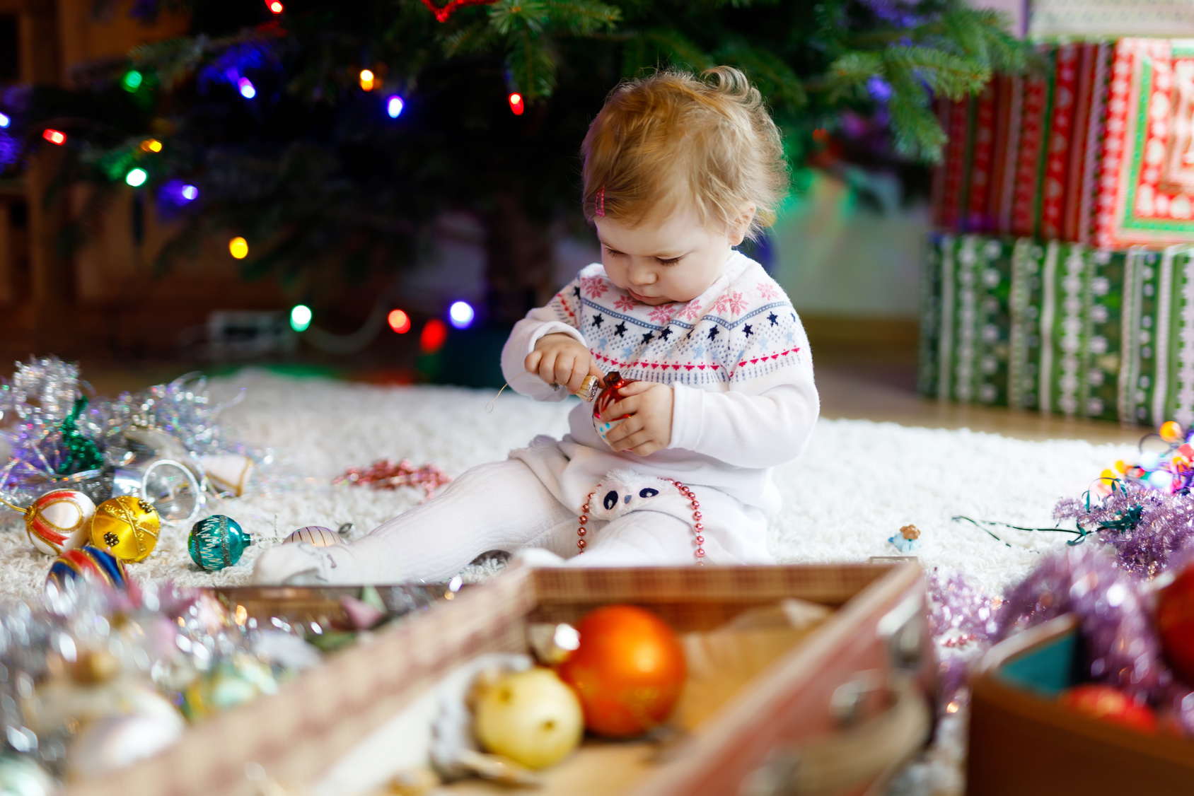 erstes weihnachten mit baby, weihnachten mit kleinkind, tipps, stress vermeiden feiertage
