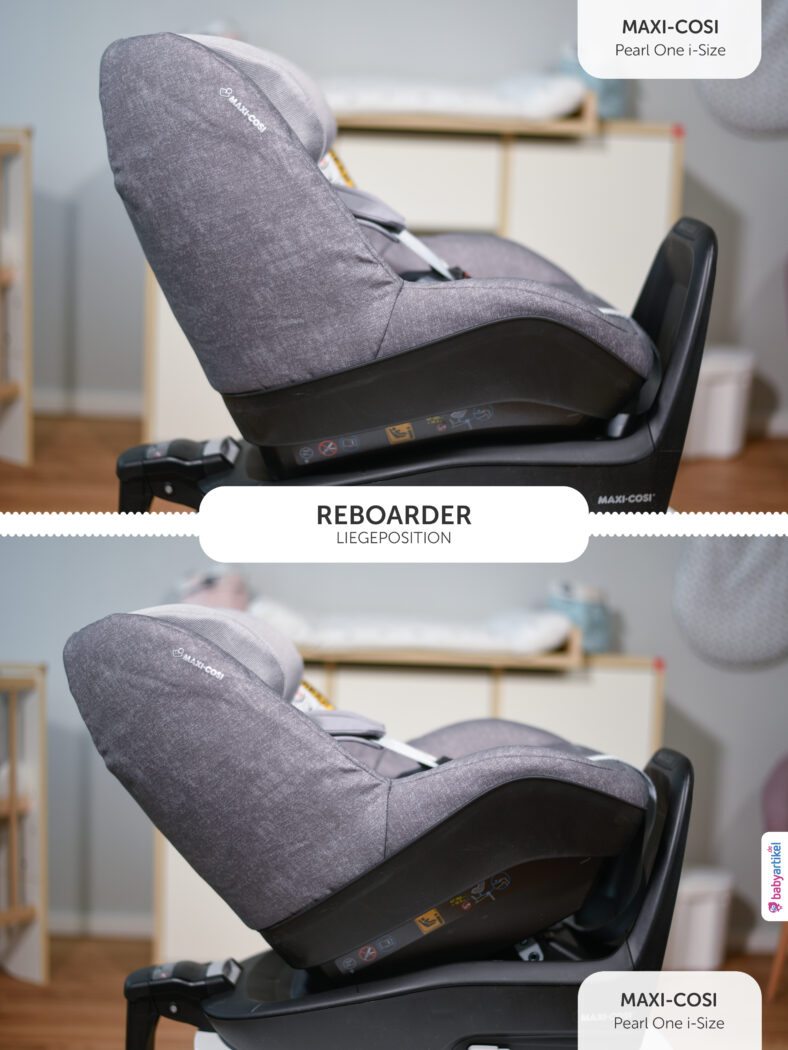 i-size reboarder test, reboarder test, Maxi Cosi Pearl One i-Size Liegepositionen, Maxi Cosi Pearl One i-Size