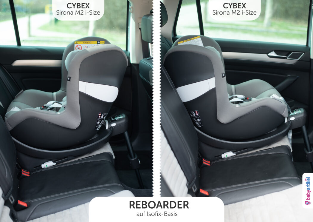 i-size reboarder test cybex sirona m2 i-size einbauen