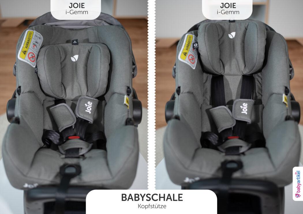 i-Size Babyschale, i-Size-babyschale test, joie i-gemm, kopfstütze