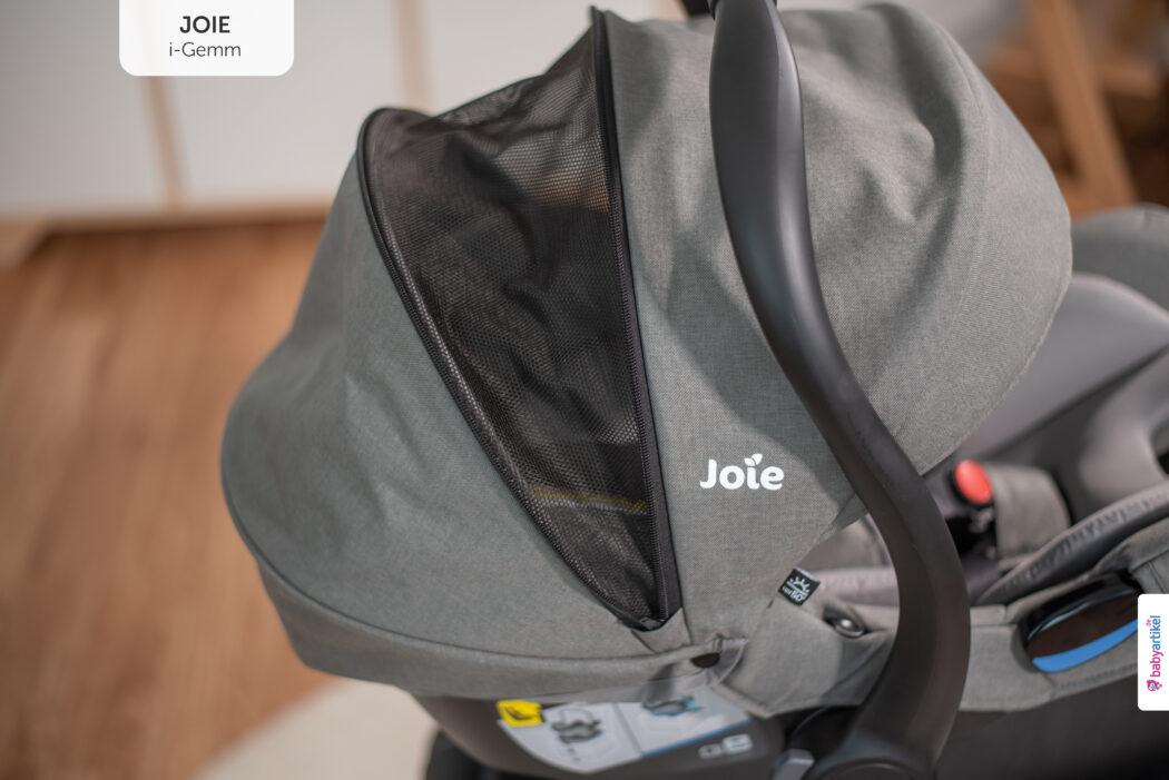 i-Size Babyschale, i-Size-babyschale test, joie i-gemm, sonnenverdeck