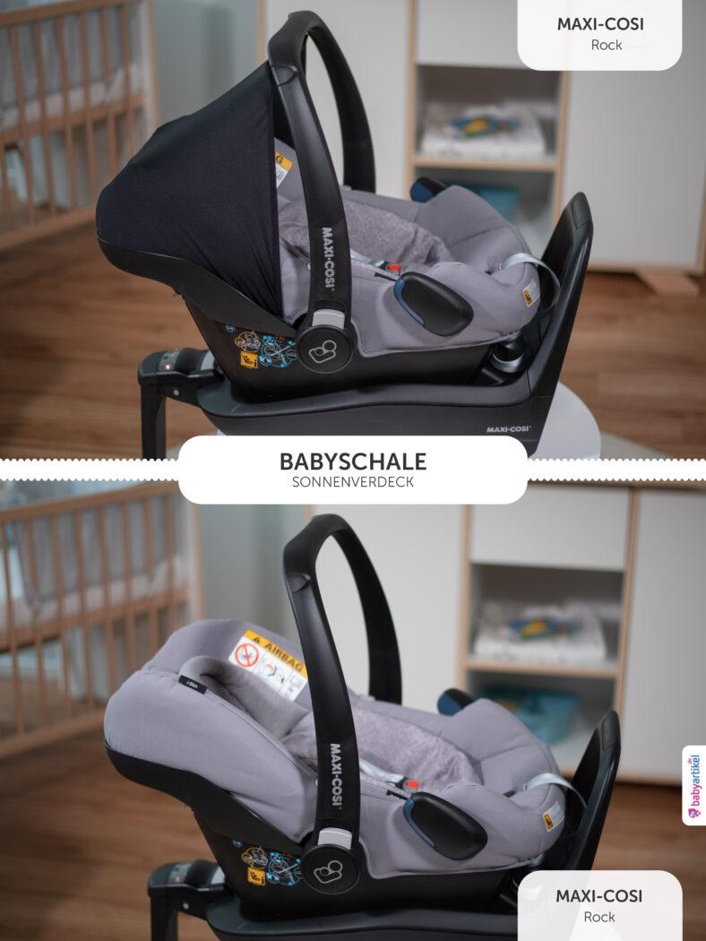 i-Size Babyschale, i-Size-babyschale test, maxi-cosi rock, sonnenverdeck
