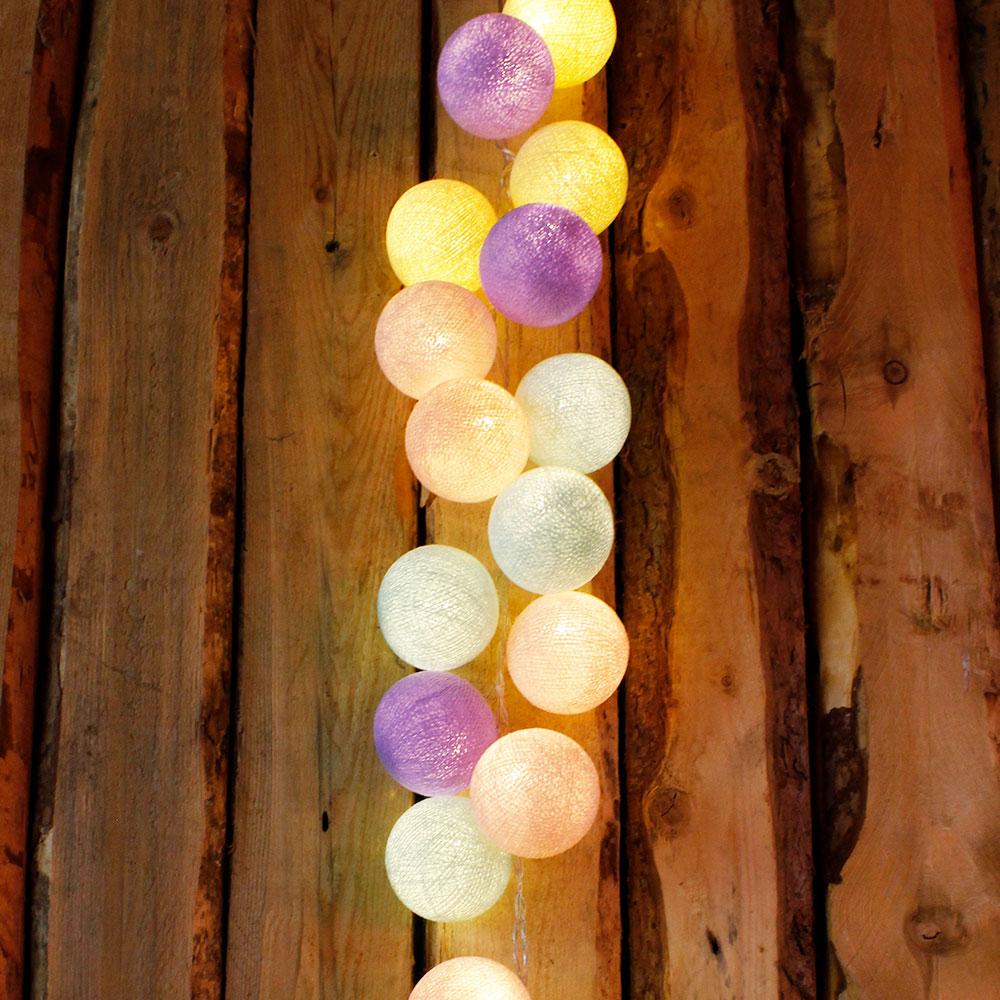 cotton ball lights lichterkette besondere Geschenke Geburt