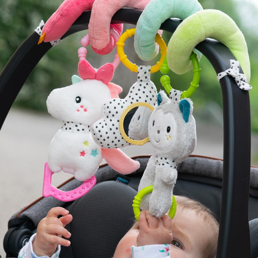 Activity Spirale Babyschale Hängespielzeug Spielsachen Auto Autofahren Baby