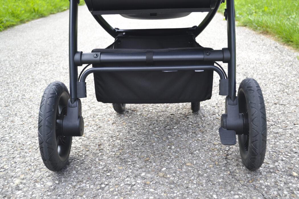 Hauck Saturn R Test Kinderwagen Einkaufskorb Bremse Luftkammerräder