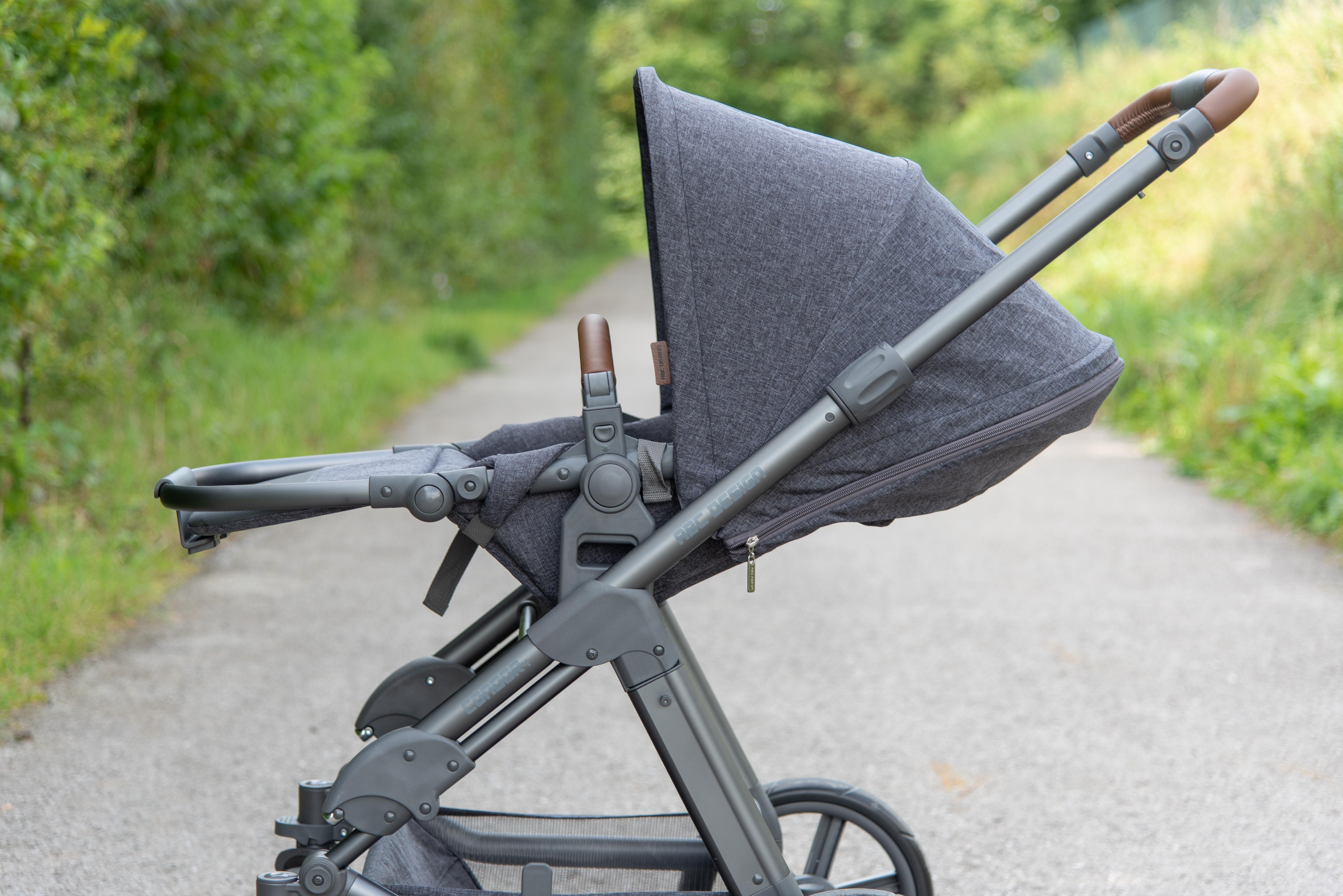 ABC Design Condor 4 Kombi-Kinderwagen: Sportsitz in Liegeposition